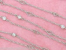 """DECO STYLE 1.20ctw BRILLIANT DIAMOND BY-THE-YARD PLATINUM 40.75"""" CHAIN NECKLACE"""