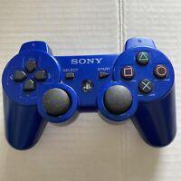 Genuine Blue Sony Playstation 3 PS3 SixAxis DualShock 3, Controller OEM CECHZC2U