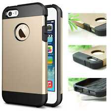 For iPhone 5 /5s Frame Luxury Chrome Hard Back Soft TPU New Armor Case Cover