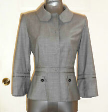 New ELIE TAHARI Lightweight JACKET Virgin Wool Gray WOMENS SIZE 08 Blazer