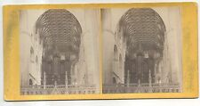 Peterborough Castle Cathedral CAMBRIDGESHIRE England Antique Stereoview Card