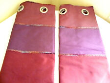 Beautiful & Vibrant CURTAINS . Double Lined . Ring Top . EXQUISITE . [Smaller]