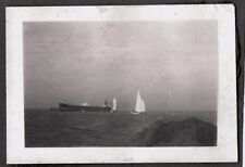 VINTAGE 1928 LOS ANGELES CALIFORNIA SAN PEDRO BREAKWATER SAILBOAT SHIP OLD PHOTO