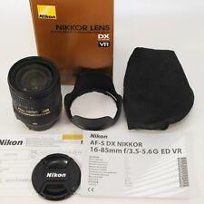 Nikon AF-S VR Nikkor 16-85mm f/3, 5-5,6g ed DX/como nuevo/completo/foto distribuidores