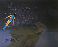 Space Ghost: Jace: Original Production Cel w/Matching Drawing Signed Bob Singer