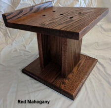 Custom Heavy Duty Hand Made Home Theater Speaker Stands SOLID OAK