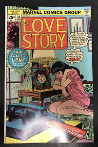 OUR LOVE STORY #34 9.2 NM-LINGERIE COVER 1975 RARE MARVEL COMIC BRONZE AGE