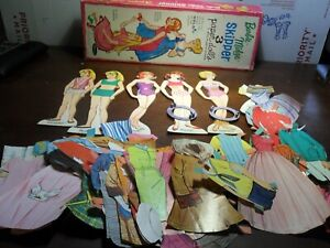 Barbie Midge Skipper 3 Paper Dolls in Original Box 1965 Whitman AS PICTURED