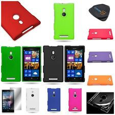 For Nokia Lumia 925 - Hard Rubberized Snap On Phone Case Accessory
