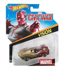 Hot Wheels 2016 1:64 Personnage Voitures Marvel #31 GUERRE CIVILE VISION Asst.