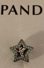 Brand New GENUINE PANDORA DISNEY TINKER BELL GREEN STAR 791920NPG Charm ALE S925