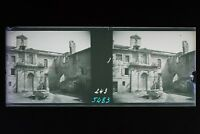 Villeneuve-Les-Avignon Francia Foto Stereo 6n7 Placca Lente Vintage Negativo