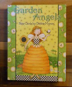 12 Leanin Tree Greeted Cards GARDEN ANGEL, DEBBIE MUMM - Birthday, Thank You...