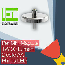 Mini MagLite LED Aggiornamento/Conversione lampadina Torcia 2AA Cell Philips LED