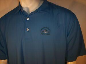 Peter Millar XXL Blue Poly/Spandex Golf Shirt Jupiter Hills US Amateur Four-Ball