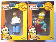 HOMER SIMPSON + BART SIMPSON ON TOYS Christmas Ornaments (New/Kurt Adler/2004)