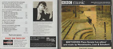 CD - BBC MUSIC - BEETHOVEN PIANO SONAA 'LES ADIEUX' & MUSIC BY SCHUBERT etc