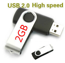 2GB Swivel USB 2.0 Flash Drive Memory Thumb Key Stick Storage High Speed