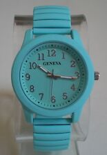 Women's Stretch Band Mint Painted Metal Finish Fashion Good for Nurse Watch