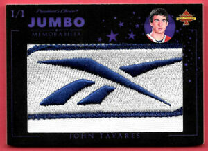 2020 John Tavares President's Choice Solitaire 1/1 Jumbo Patch - Maple Leafs