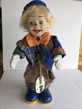 Jouet Ancien Clown automate musicale en porcelaine vintage Année 60