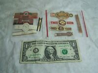 Lot of 10 Vintage Cigar Bands Assorted , Colorful - All Different  - Lot E