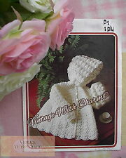 Vintage Crochet Pattern For Sweet Hooded Jacket For Baby.  ONLY £2.20 + FREE P&P