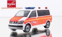 1:87 Herpa 094474 VW T6 Bus Mannschaftstransportw. Freiw. Feuerwehr Norderstedt