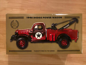 TEXACO 1946 DODGE POWER WAGON TOW TRUCK WRECKER SPECIAL EDITION #23 in Series