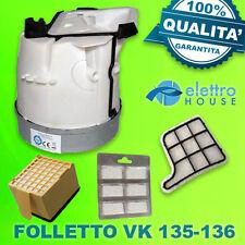 MOTORE FOLLETTO VORWERK VK135-136 CERTIFICATO TUV 900 WATT + 2 FILTRI + PROFUMI