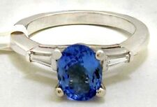 GENUINE 1.34 Cts TANZANITE & DIAMONDS PLATINUM RING  *FREE SHIPPING & APPRAISAL