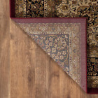Silk Road Red 7 Ft. X 10 Ft. Medallion Area Rug Distressed Pattern Indoor