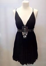 Just CAVALLI Short Chiffon Black Dress Size 40  IT New with tags