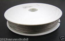 Tiger Tail Stainless Steel Coated with 0.38mm Beading Wire Silver Grey 100 meter