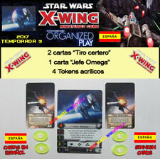 STAR WARS X-WING 2017 T3 OP KIT ESPAGNOL - Chef Omega + 4 Jetons + 2 Tiro précis