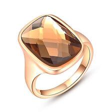 Women's Orange Topaz Birthstone Gemstones Wedding Engagement Ring Size 7 R125