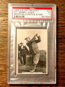 1935 J A Pattreiquex Bobby Jones  #19 PSA 5 Ex Sporting Events and Stars