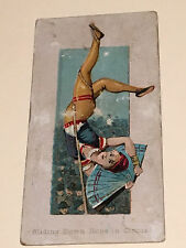 1888 N86 DUKE'S SCENES OF PERILOUS OCCUPATIONS, SLIDING DOWN ROPE IN CIRCUS