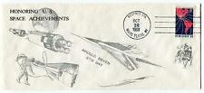 1968 Honoring US Space Achievements Apollo 7 8th Day New York Space Cover