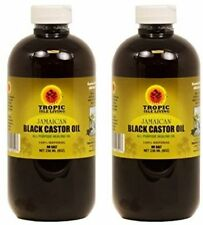 "Tropic Isle Jamaican Black Castor Oil 8oz ""Pack of 2"" Glass w/Free Applicator"