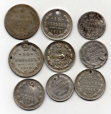 Lot Schrottmünzen Silber 10 , 15 , 20 Kopeken Russland