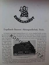 Engelhardt Brauerei AG Berlin 10 Seiten Historie von 1926 Werbung Bildbericht
