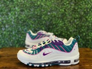 Nike Air Max 98 Women's Purple Teal Sneakers CI3709-301 Size 10