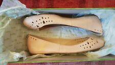 Sam Edelman Leighton Peach Leather Ballerina Flats Pumps, size US 6, UK 4, EU 37