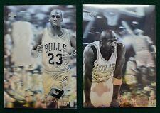 Michael Jordan basketball card lot (2) - 1991 UD Hologram NNO Chicago Bulls MVP