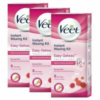 Veet Instant Waxing Kit Easy-Gelwax for Normal Skin - 8 Strips
