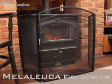 FIRE SCREEN / GUARD SHIELD / FIREPLACE FIRESCREEN / BLACK IRON 3 PANEL Melaleuca