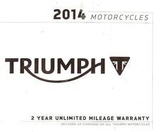 2014 TRIUMPH MOTORCYCLE BROCHURE -TIGER-DAYTONA-ROCKET BONNEVILLE-THUNDERBIRD