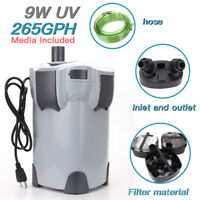 3-stage External Canister Filter with 9-watt UV Sterilizer 265 GPH With Media