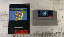 Super Mario World (SNES) Cartridge , protector  and Manual, Authentic, Tested